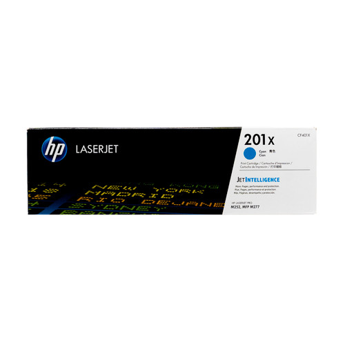 Original HP 201X Cyan CF401X High-Yield LaserJet Toner Cartridge