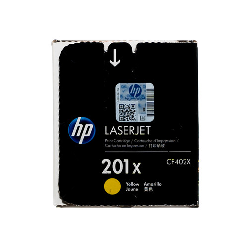 Original HP 201X Yellow CF402X High-Yield LaserJet Toner Cartridge
