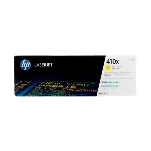 Original HP 410X Yellow CF412X High-Yield LaserJet Toner Cartridge