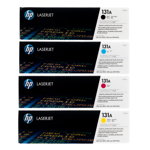 Original HP 131A Set CF210A CF211A CF212A CF213A Black Cyan Magenta Yellow Toner Cartridges