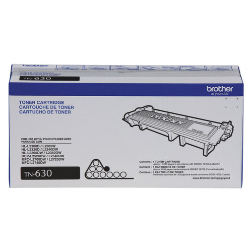 Original Brother TN-630 Black Toner Cartridge