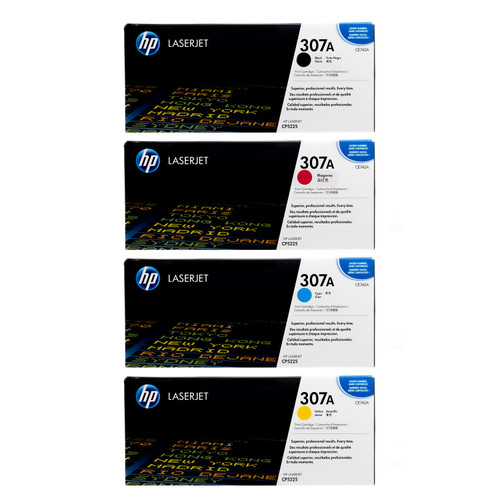 HP 307A SET | CE740A CE741A CE742A CE743A | Original HP Toner Cartridge - Black, Cyan, Yellow, Magenta