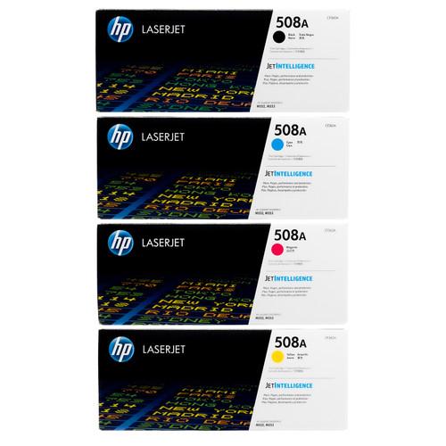 HP 508A SET | CF360A CF361A CF362A CF363A | Original HP Toner Cartridge - Black, Cyan, Yellow, Magenta