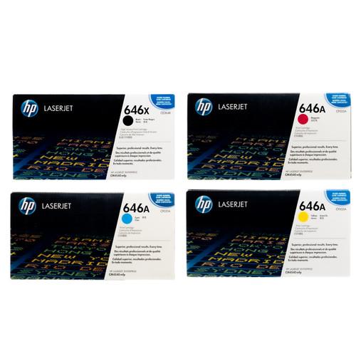 HP 646X 646A SET   CE264X CF031A CF032A CF033A   Original HP Toner Cartridge - Black, Cyan, Yellow, Magenta