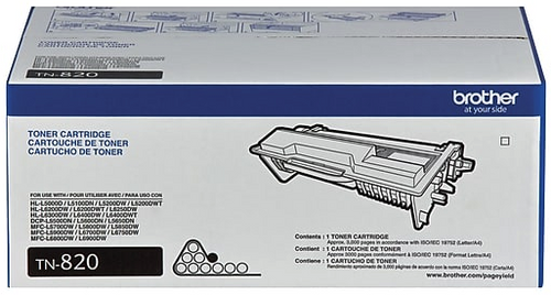 Original Brother TN820 Black Laser Toner Cartridge