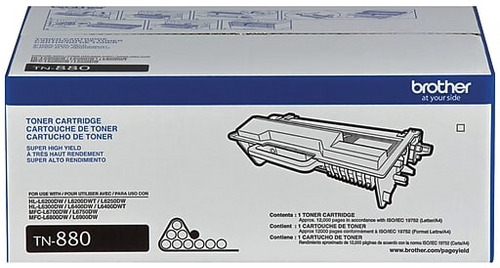 Original Brother TN880 Black Super High-Yield Laser Toner Cartridge