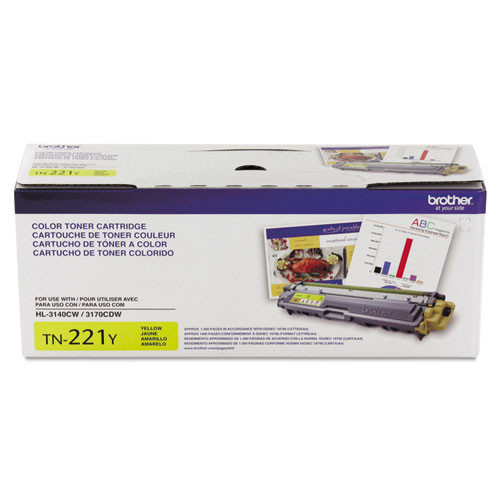 Original Brother TN221Y Yellow Toner Cartridge