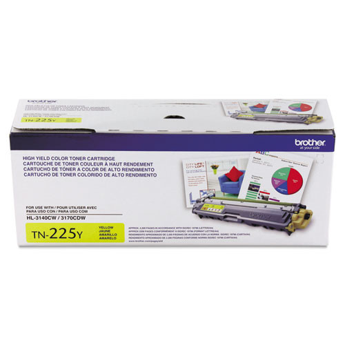 Original Brother TN225Y Yellow High-Yield Toner Cartridge
