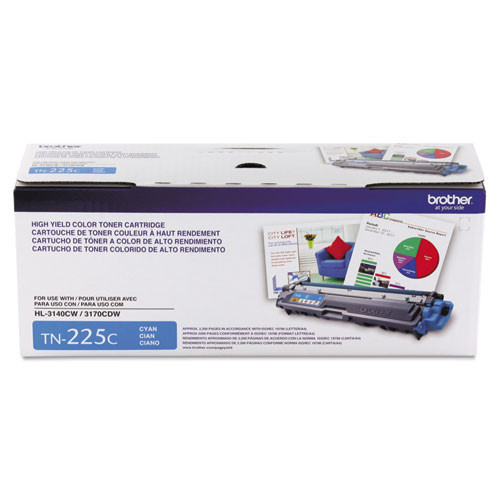 Original Brother TN225C Cyan High-Yield Toner Cartridge