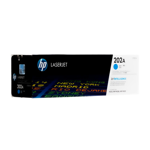 Original HP 202A Cyan CF501A Toner Cartridge