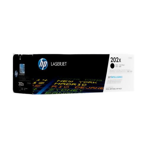 Original HP 202X Black High-Yield Toner Cartridge CF500X