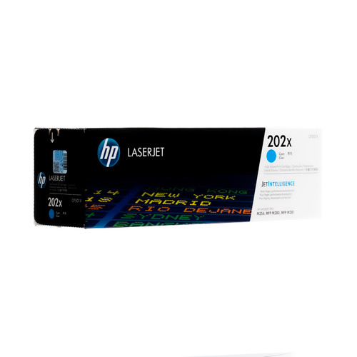 Original HP 202X CF501X Cyan High-Yield Toner Cartridge