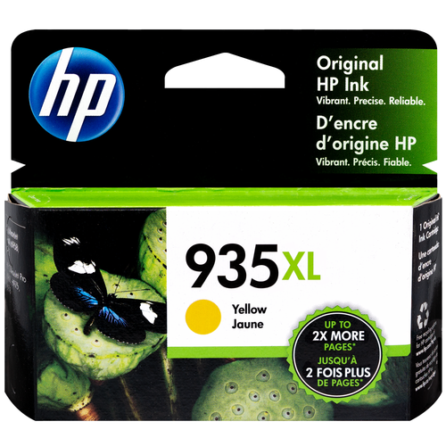 Original HP 935XL C2P26AN #140 Yellow High-Yield Ink Cartridge
