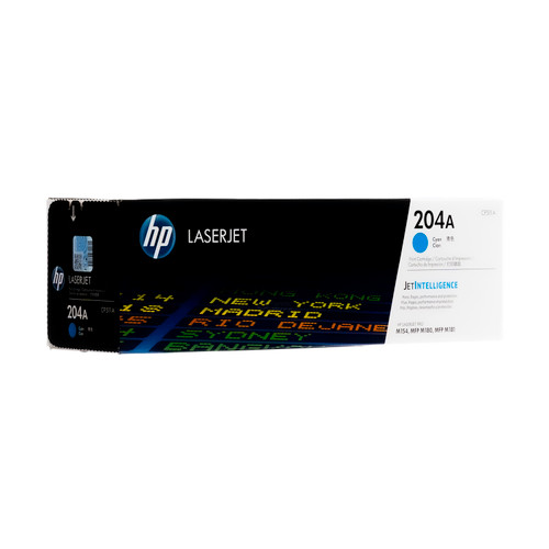 Original HP 204A Cyan CF511A LaserJet Toner Cartridge