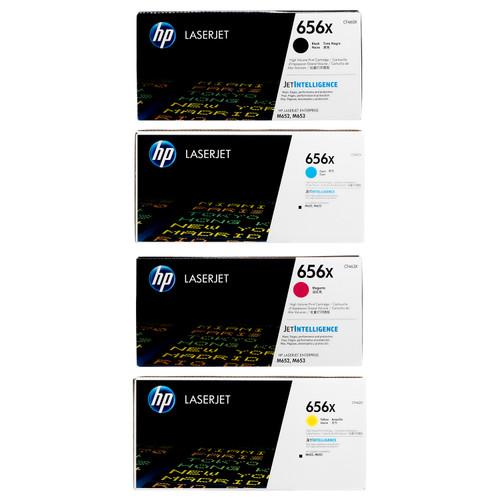 HP 656X SET | CF460X CF461X CF462X CF463X | Original HP Toner Cartridge - Black, Cyan, Yellow, Magenta