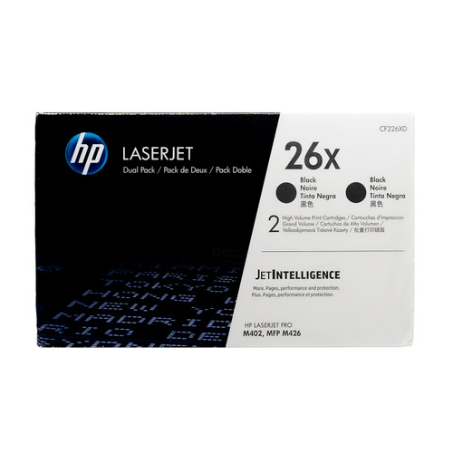 Original HP 26X SET | CF226XD | High-Yield LaserJet Toner Cartridges - 2Pack - Black