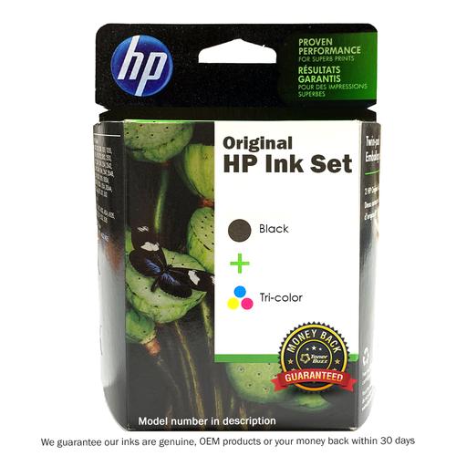 Original HP 74XL Black and 75 Tri-Color Original Ink Cartridges