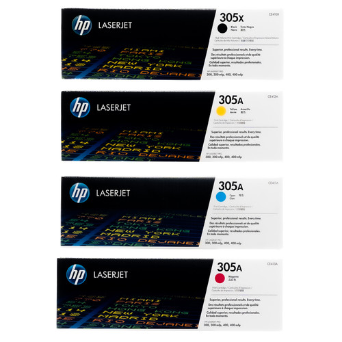 HP CE410XD CF370AM SET | Original HP Toner Cartridge - Black, Cyan, Yellow, Magenta