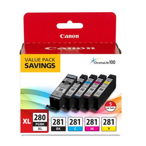 2021C007 | Original Canon Ink Cartridges Combo Pack - Black High Yield, Photo Black, Cyan, Magenta, Yellow