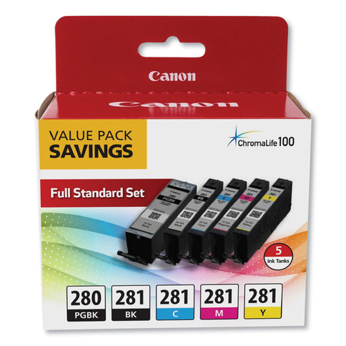 Original Canon 2075C006 (PGI-280; CLI-281) Ink, Black XL/Black/Cyan/Magenta/Yellow