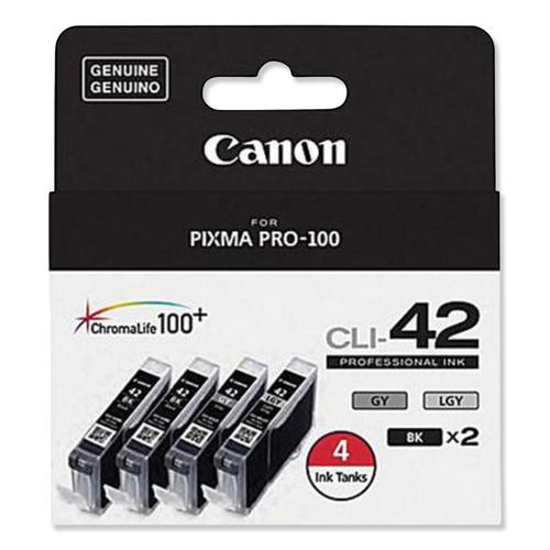 6384B008 | Original Canon Ink Cartridge Combo Pack - Black (2), Gray, Light Gray