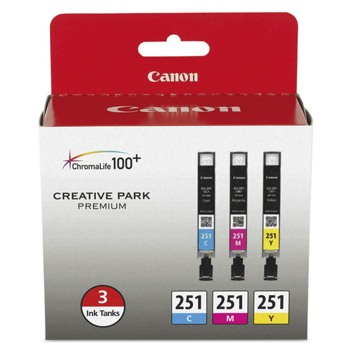 6514B009 | Canon CLI-251 | Original Canon Ink Cartridge - Cyan, Magenta, Yellow