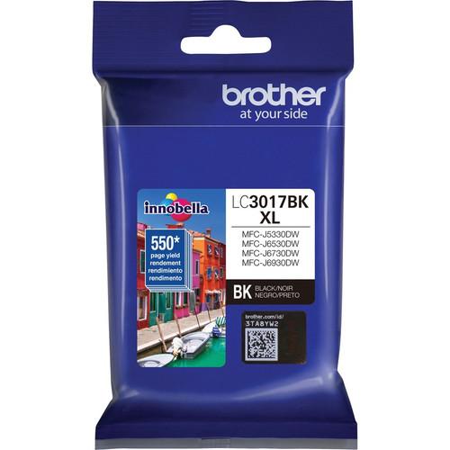 Original Brother LC3017BK Genuine High Yield Black Ink Cartridge (550PG YLD)