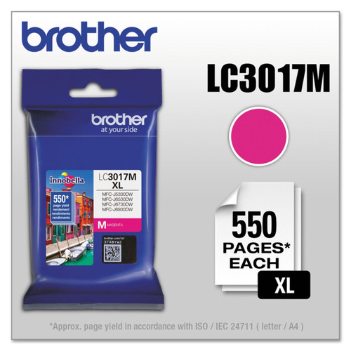 Original Brother LC3017M Genuine High Yield Magenta Ink Cartridge (550PG YLD)