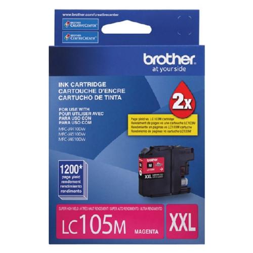 Original Brother LC105M Genuine OEM (LC-105M) EXTRA High Yield Magenta Inkjet Cartridge (1.2K YLD)