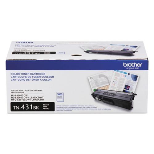 Original Brother TN431BK Genuine OEM Standard Yield Black Toner (3K YLD)