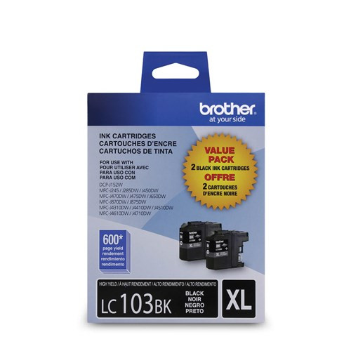LC-103   Original Brother Ink Cartridge 2-Pack – Black