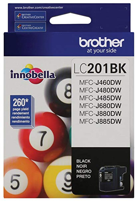 Original Brother LC201BK LC-201BK Black Ink Cartridge