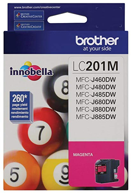 Original Brother LC201M LC-201M Magenta Ink Cartridge