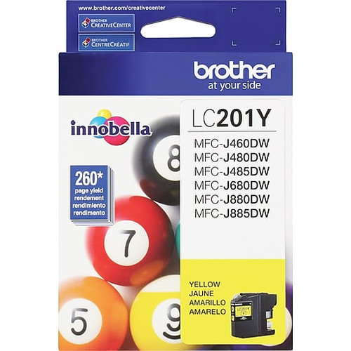 Original Brother LC201Y LC-201Y Yellow Ink Cartridge