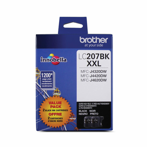 Original Brother LC2072PKS LC-2072PKS ink cartridge Black 1200 pages