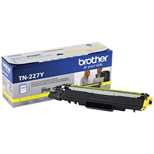 Original Brother TN227Y TN-227Y OEM Toner Yellow 2300 Pages High Yield