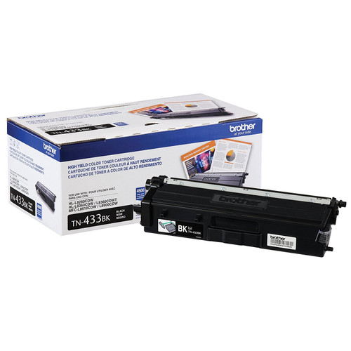Original Brother TN433BK TN-433BK Laser cartridge 4500pages Black laser toner & cartridge