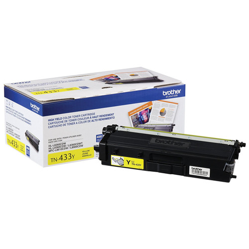 Original Brother TN433Y TN-433Y Laser cartridge 4000pages Yellow laser toner & cartridge