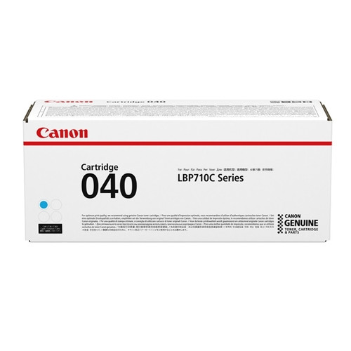 0458C001   Canon 040   Original Canon Laser Toner Cartridge - Cyan