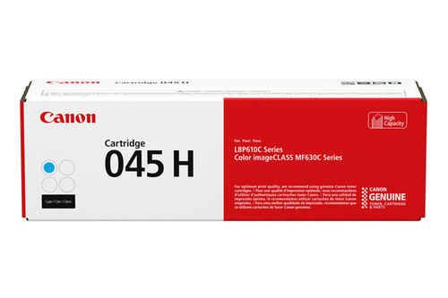 1245C001AA | Canon 045H | Original Canon High-Yield Laser Toner Cartridge - Cyan