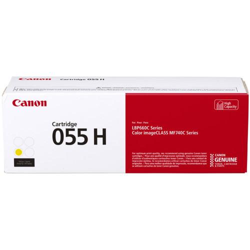Original Canon 3017C001 055H Yellow Toner Cartridge