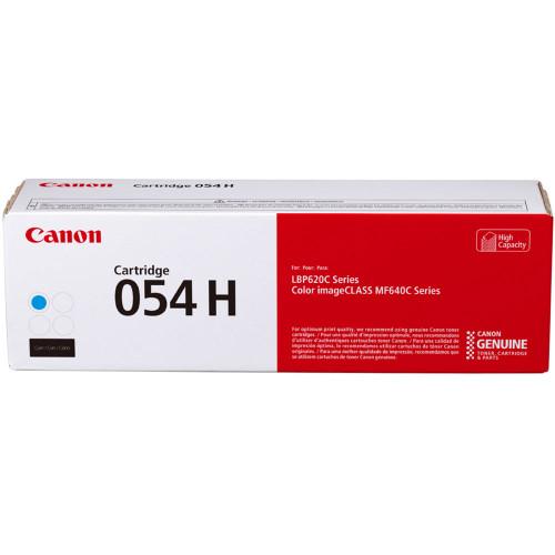 3027C001 | Canon 054H | Original Canon High-Yield Laser Toner Cartridge - Cyan