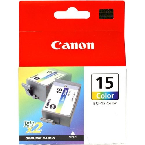 8191A003 | Canon BCI-15 | Original Canon Ink Cartridge Twin Pack - Tricolor