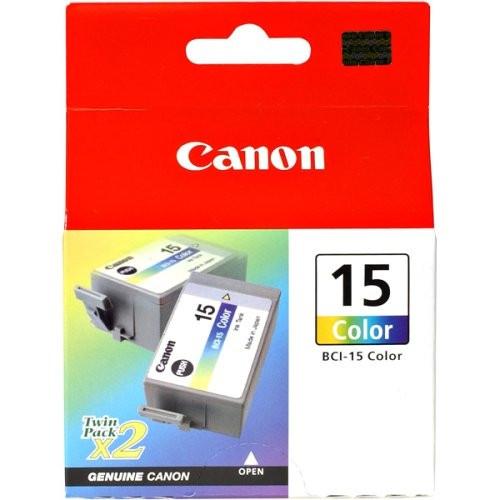 8191A003 | Canon BCI-15 | Original Canon Ink Cartridge Twin Pack - Tri-Color