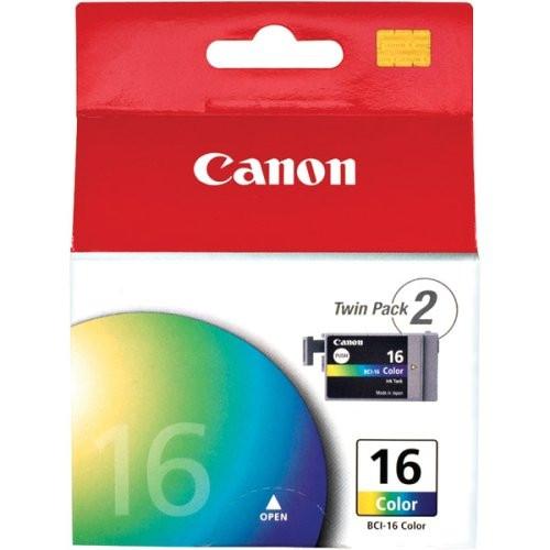 9818A003   Canon BCI-16   Original Canon Ink Cartridge Twin Pack – Tri-Color