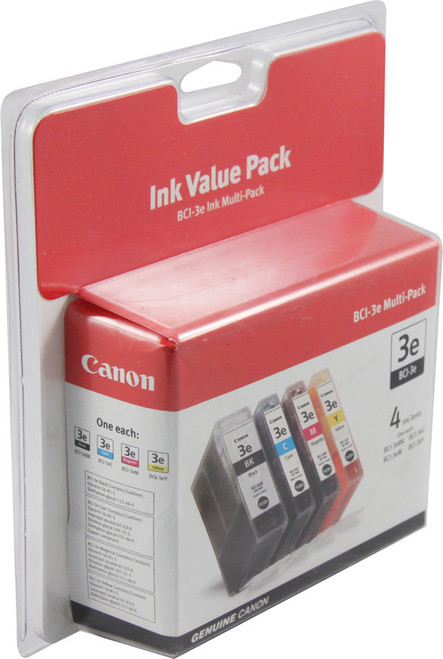 4479A230 | Canon BCI-3 | Original Canon Ink Cartridge Combo Pack - Black, Cyan, Magenta, Yellow