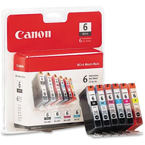 4705A018   Canon BCI-6   Original Canon Ink Cartridge Combo Pack - Black, Cyan, Magenta, Yellow, Photo Cyan, Photo Magenta