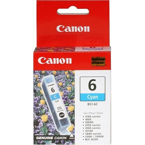 4706A003 | Canon BCI-6 | Original Canon Ink Cartridge - Cyan