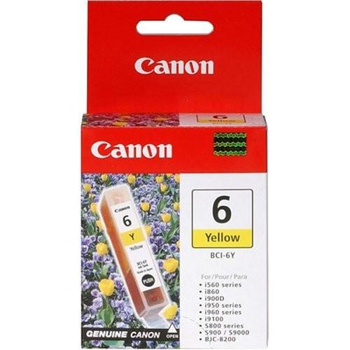 4708A003   Canon BCI-6   Original Canon Ink Cartridge - Yellow
