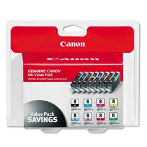 Original Canon 0620B015 CLI-8 ink cartridge Black Cyan Green Magenta Red Yellow